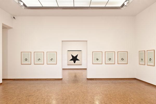 """Jo Baer, """"Untitled (White Star),"""" 1960-61. Oil on Canvas, 183 × 183 cm. Courtesy of Kröller-Müller Museum, Otterlo"""