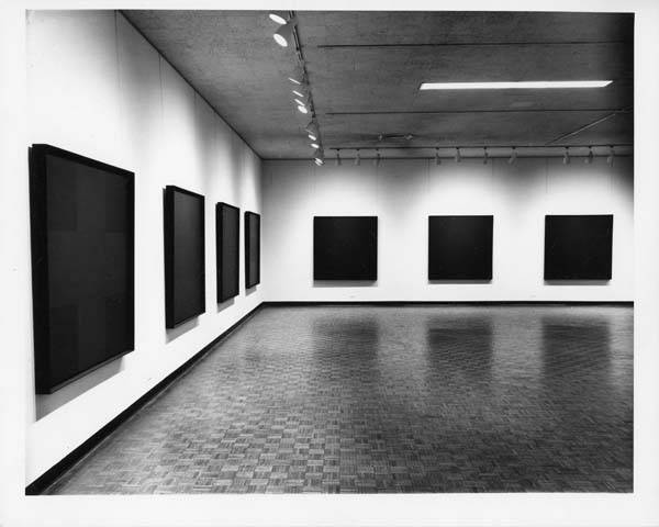 Installation view of Ad Reinhardt Paintings at the Jewish Museum, 1966 ...