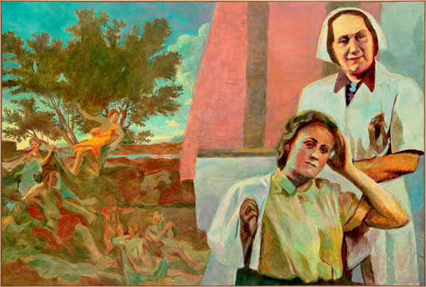 Ilya And Emilia Kabakov The Two Times 2014 Oil On Canvas 75 X 112 Inches C
