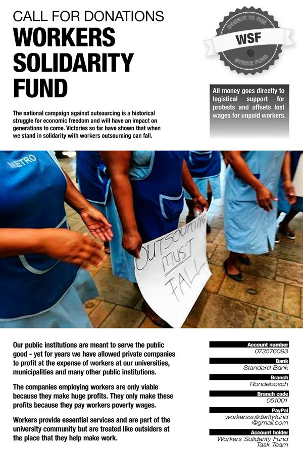 Special Report  South Africa  Outsourcingmustfall  Unity