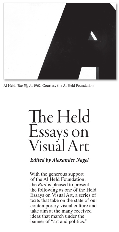 THE HELD ESSAYS ON VISUAL ART CARROLL DUNHAM: Eyes Wide Shut | The ...