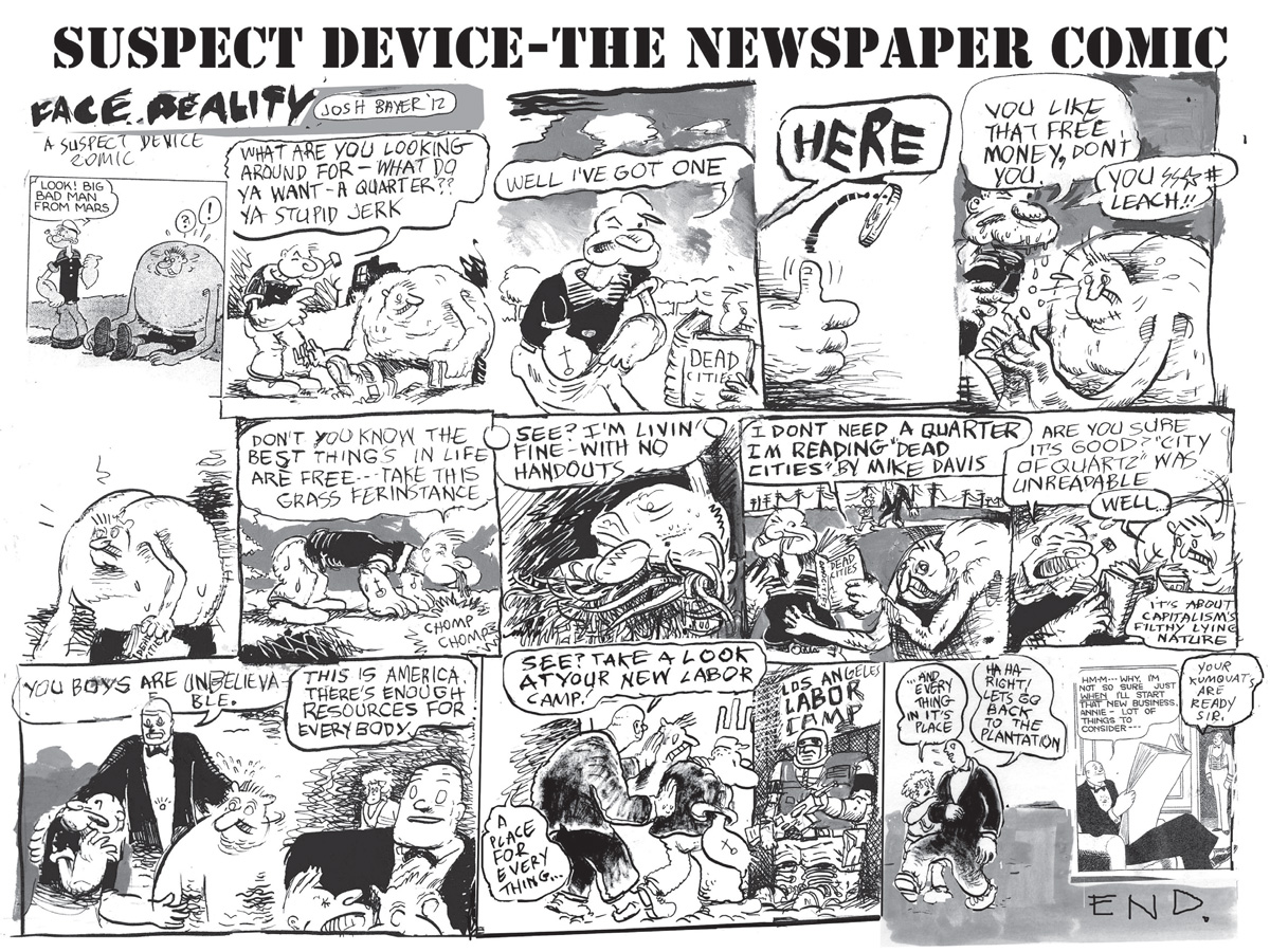 Comic Newspaper Articles Device—the Newspaper Comic