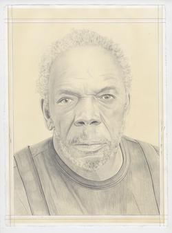 Portrait drawing of Sam Gilliam by Phong H. Bui