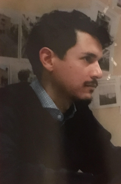 A photo of poet Christopher Rey Pérez.