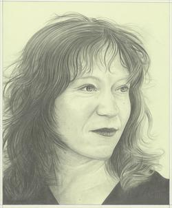 Portrait drawing of Sara Roffino by Phong H. Bui